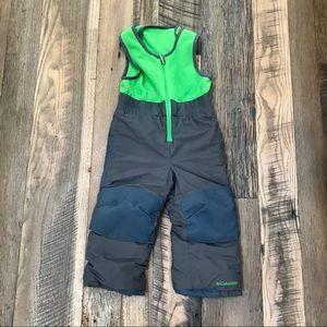 Columbia Omni Shield snow Pants Bibs Boy 3T